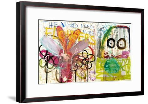 The World Need More Flowers-Poul Pava-Framed Art Print