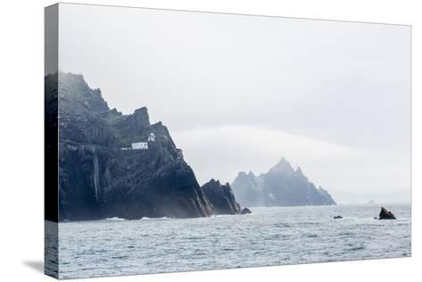 Fog Shrouds the Skellig Islands-Michael Nolan-Stretched Canvas Print