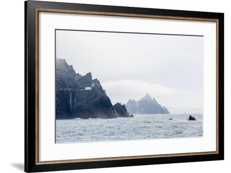 Fog Shrouds the Skellig Islands-Michael Nolan-Framed Art Print