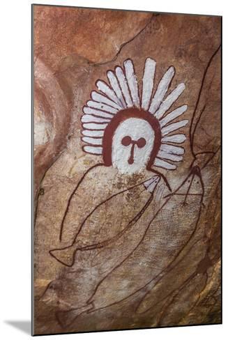 Aboriginal Wandjina Cave Artwork in Sandstone Caves at Raft Point, Kimberley, Western Australia-Michael Nolan-Mounted Photographic Print