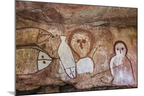Aboriginal Wandjina Cave Artwork in Sandstone Caves at Raft Point, Kimberley, Western Australia-Michael Nolan-Mounted Photographic Print