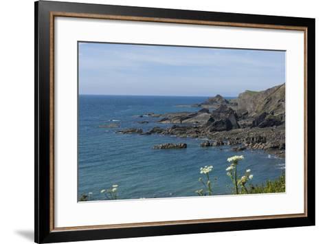 Rock Outcrops at Hartland Quay, North Cornwall, England, United Kingdom, Europe-James Emmerson-Framed Art Print