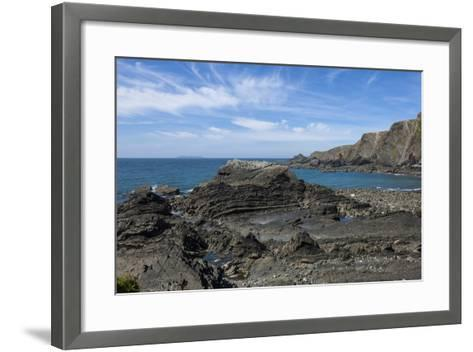 Rock Outcrops at Hartland Quay, North Cornwall, England, United Kingdom, Europe-James Emmerson-Framed Art Print