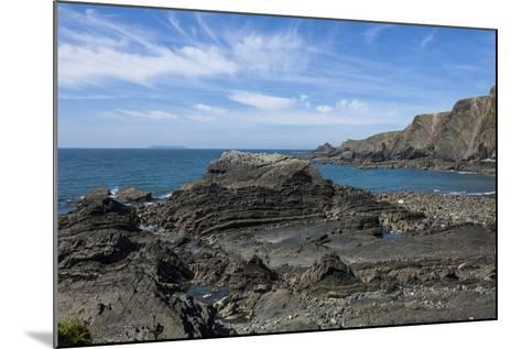 Rock Outcrops at Hartland Quay, North Cornwall, England, United Kingdom, Europe-James Emmerson-Mounted Photographic Print