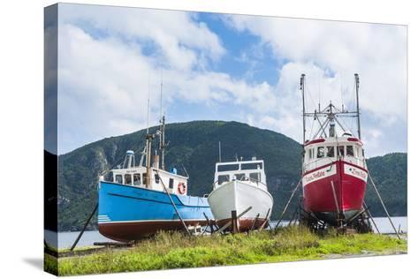 Fishing Boat in Corner Brook, Newfoundland, Canada, North America-Michael Runkel-Stretched Canvas Print