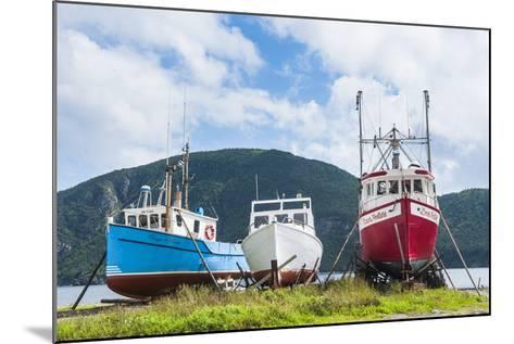 Fishing Boat in Corner Brook, Newfoundland, Canada, North America-Michael Runkel-Mounted Photographic Print