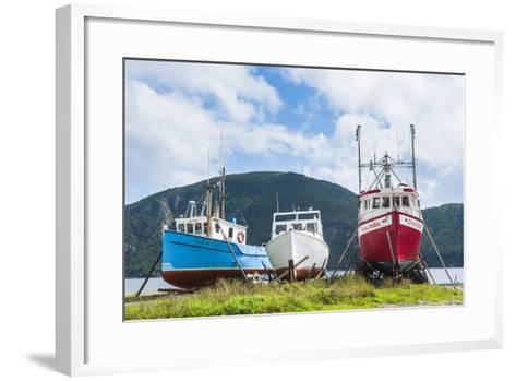 Fishing Boat in Corner Brook, Newfoundland, Canada, North America-Michael Runkel-Framed Art Print
