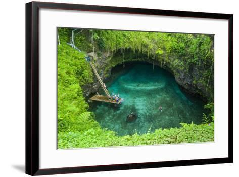 To Sua Ocean Trench in Upolu, Samoa, South Pacific, Pacific-Michael Runkel-Framed Art Print