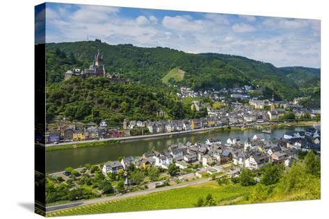 View over Cochem with its Castle, Moselle Valley, Rhineland-Palatinate, Germany, Europe-Michael Runkel-Stretched Canvas Print