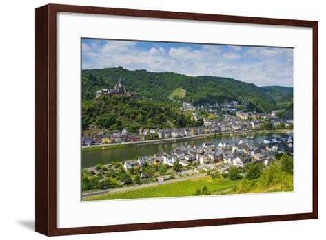 View over Cochem with its Castle, Moselle Valley, Rhineland-Palatinate, Germany, Europe-Michael Runkel-Framed Art Print