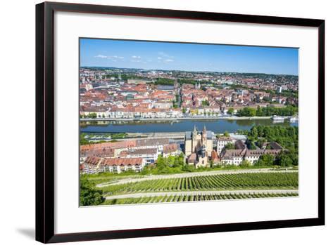 View over Wurzburg from Fortress Marienberg, Franconia, Bavaria, Germany, Europe-Michael Runkel-Framed Art Print