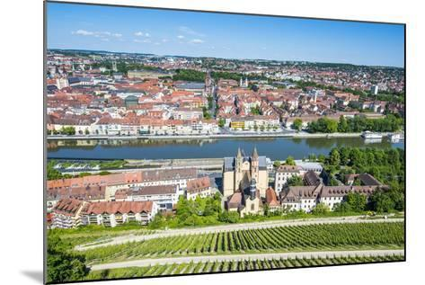 View over Wurzburg from Fortress Marienberg, Franconia, Bavaria, Germany, Europe-Michael Runkel-Mounted Photographic Print