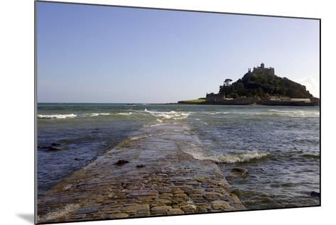 The Old Stone Causeway Leading to St. Michaels Mount Submerged by the Incoming Tide-Simon Montgomery-Mounted Photographic Print