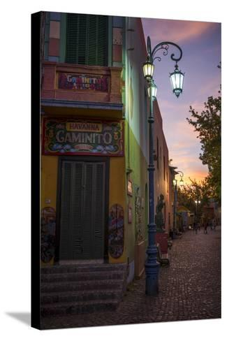 El Caminito at Dusk, La Boca, Buenos Aires, Argentina, South America-Ben Pipe-Stretched Canvas Print