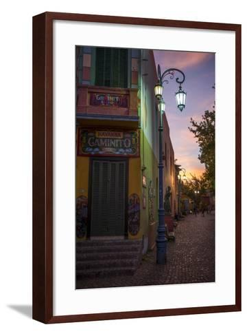 El Caminito at Dusk, La Boca, Buenos Aires, Argentina, South America-Ben Pipe-Framed Art Print