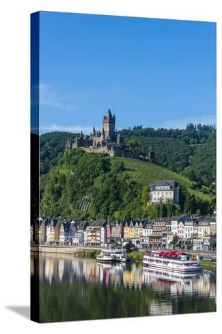 View over Cochem with Cochem Castle in the Background-Michael Runkel-Stretched Canvas Print