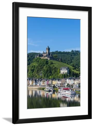View over Cochem with Cochem Castle in the Background-Michael Runkel-Framed Art Print