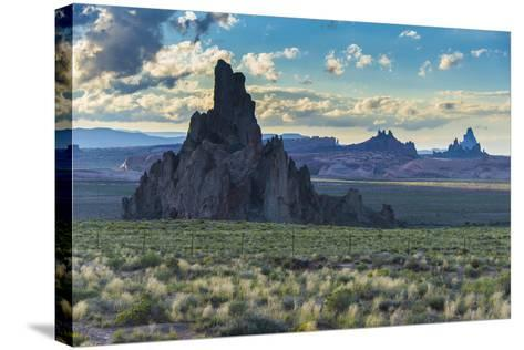 Rock Formations in the Late Daylight Near Monument Valley-Michael Runkel-Stretched Canvas Print