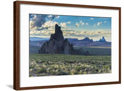 Rock Formations in the Late Daylight Near Monument Valley-Michael Runkel-Framed Art Print