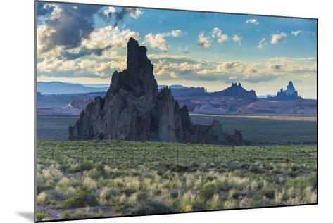 Rock Formations in the Late Daylight Near Monument Valley-Michael Runkel-Mounted Photographic Print