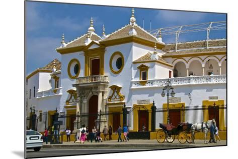 Plaza De Toros, Seville, Andalusia, Spain, Europe-Guy Thouvenin-Mounted Photographic Print