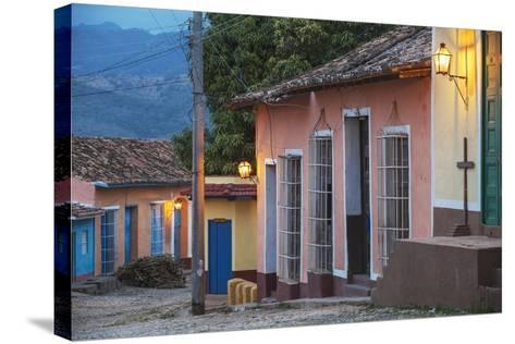 Colourful Street in Historical Center-Jane Sweeney-Stretched Canvas Print