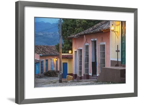 Colourful Street in Historical Center-Jane Sweeney-Framed Art Print