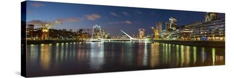 Puente De La Mujer (Bridge of the Woman) at Dusk-Ben Pipe-Stretched Canvas Print