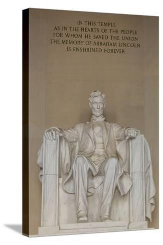 Interior View of the Lincoln Statue in the Lincoln Memorial-Michael Nolan-Stretched Canvas Print