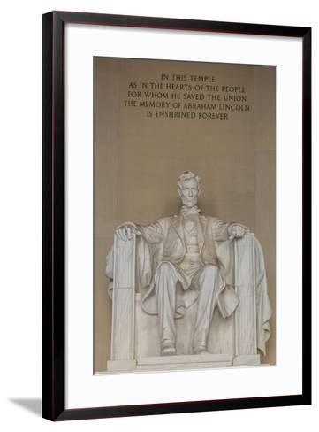 Interior View of the Lincoln Statue in the Lincoln Memorial-Michael Nolan-Framed Art Print
