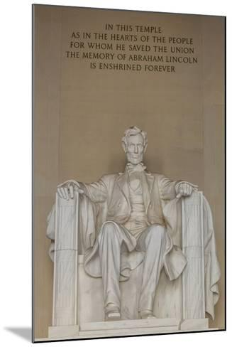 Interior View of the Lincoln Statue in the Lincoln Memorial-Michael Nolan-Mounted Photographic Print