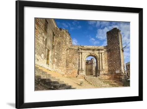Monasterio De San Francisco, Colonial Zonesanto Domingo, Dominican Republic, West Indies, Caribbean-Jane Sweeney-Framed Art Print