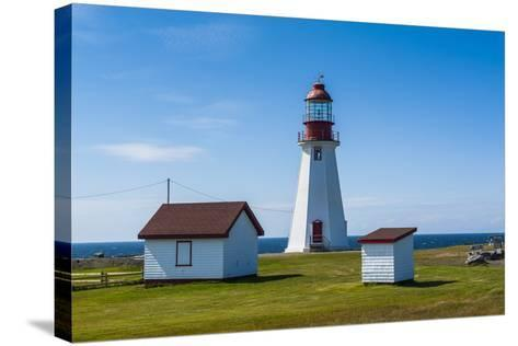 Pointe Riche Lighthouse, Port Au Choix, Newfoundland, Canada, North America-Michael Runkel-Stretched Canvas Print