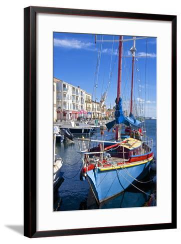 Boats in Harbor, Meze, Herault, Languedoc Roussillon Region, France, Europe-Guy Thouvenin-Framed Art Print