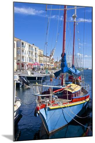Boats in Harbor, Meze, Herault, Languedoc Roussillon Region, France, Europe-Guy Thouvenin-Mounted Photographic Print