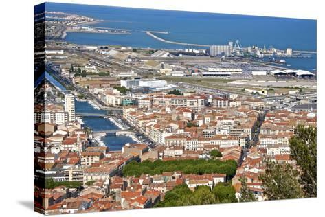 Port and Town, Sete, Herault, Languedoc-Roussillon Region, France, Europe-Guy Thouvenin-Stretched Canvas Print