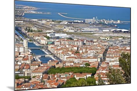 Port and Town, Sete, Herault, Languedoc-Roussillon Region, France, Europe-Guy Thouvenin-Mounted Photographic Print