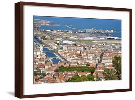 Port and Town, Sete, Herault, Languedoc-Roussillon Region, France, Europe-Guy Thouvenin-Framed Art Print