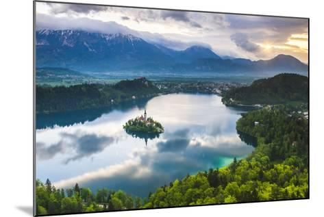 Lake Bled Island and the Julian Alps at Sunrise-Matthew Williams-Ellis-Mounted Photographic Print