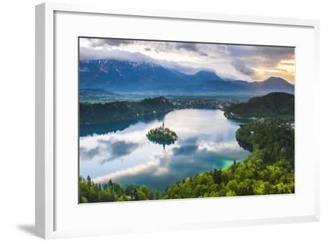 Lake Bled Island and the Julian Alps at Sunrise-Matthew Williams-Ellis-Framed Art Print