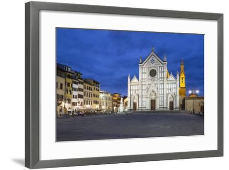 Santa Croce Church at Night, Piazza Santa Croce, Florencetuscany, Italy, Europe-Stuart Black-Framed Art Print