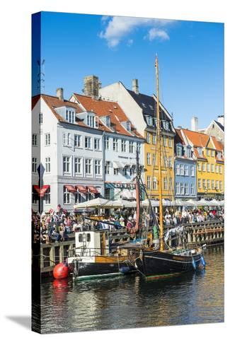 Fishing Boats in Nyhavn, 17th Century Waterfront, Copernhagen, Denmark, Scandinavia, Europe-Michael Runkel-Stretched Canvas Print