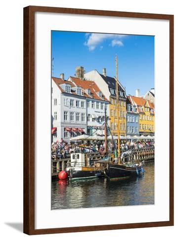 Fishing Boats in Nyhavn, 17th Century Waterfront, Copernhagen, Denmark, Scandinavia, Europe-Michael Runkel-Framed Art Print