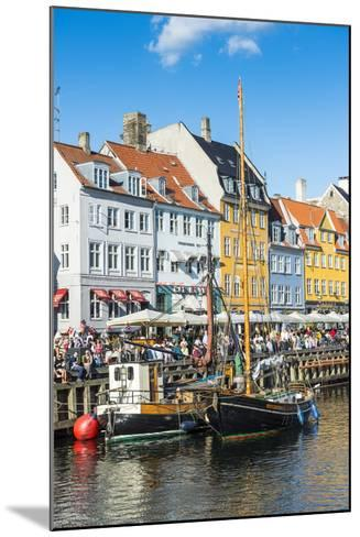 Fishing Boats in Nyhavn, 17th Century Waterfront, Copernhagen, Denmark, Scandinavia, Europe-Michael Runkel-Mounted Photographic Print