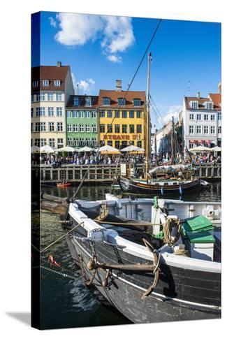 Fishing Boats in Nyhavn, 17th Century Waterfront, Copenhagen, Denmark, Scandinavia, Europe-Michael Runkel-Stretched Canvas Print