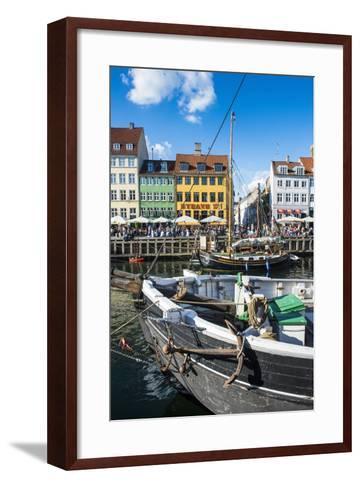 Fishing Boats in Nyhavn, 17th Century Waterfront, Copenhagen, Denmark, Scandinavia, Europe-Michael Runkel-Framed Art Print