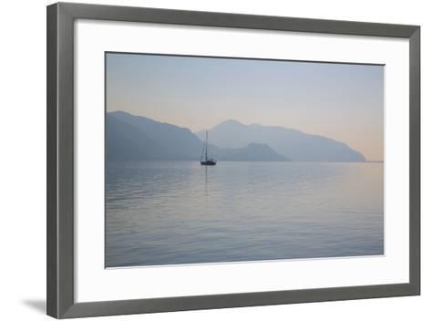 Boat on Aegean Sea, Marmaris, Anatolia, Turkey, Asia Minor, Eurasia-Frank Fell-Framed Art Print