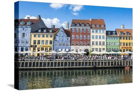 Nyhavn, 17th Century Waterfront, Copenhagen, Denmark, Scandinavia, Europe-Michael Runkel-Stretched Canvas Print