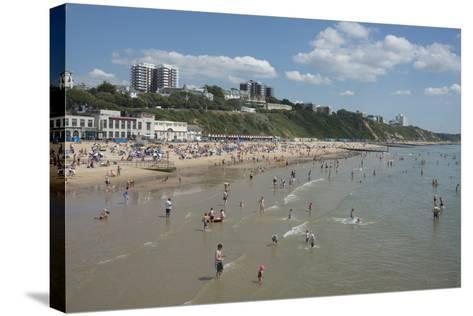 The Beach at Bournemouth, Dorset, England, United Kingdom, Europe-Ethel Davies-Stretched Canvas Print