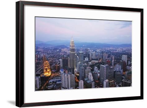 Kuala Lumpur Skyline Seen from Kl Tower, Kuala Lumpur, Malaysia, Southeast Asia, Asia-Jochen Schlenker-Framed Art Print